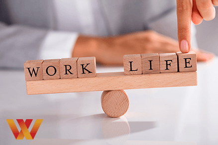Executive balancing work and life